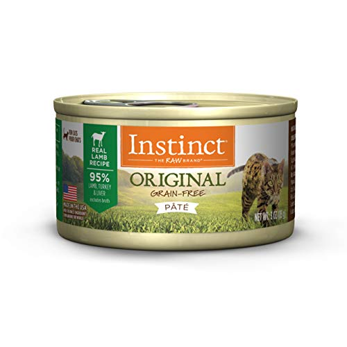 Instinct Original Grain Free Real Lamb Recipe Natural Wet Canned Cat Food by Nature's Variety, 3 oz. Cans (Case of 24) ()