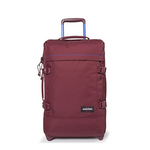 Eastpak Tranverz S Collection Stitch-Out Wheeled Luggage Merlot Stitched by Eastpak