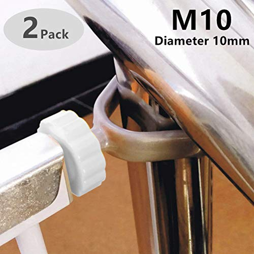 Tocypho Extra Long U Spindle 10mm (M10) Banister Gate Adaptors for Pressure Mounted Baby Gates, 2 Pack
