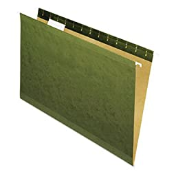 Universal 24215 Reinforced 100% Recycled Hanging Folder- 1/5 Cut- Legal- Standard Green- 25/Bx