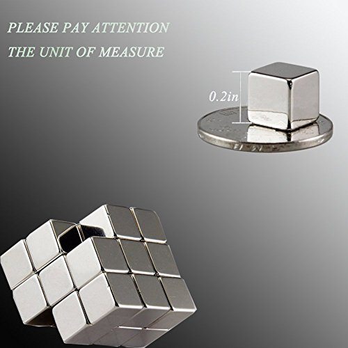 Magnetic cube, LiKee 216pcs Magic Cubes Building Blocks Educational Toys Stress Relief Toy Games Square Cube Magnets develops intelligence Office School Home DIY Desktop Decoration