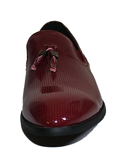 Slip Tassel Wine Shoes with Men's F41289 Faranzi Patent Dress Tuxedo on nZIqwPx