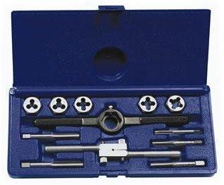 Irwin Industrial Tools 24612 Fractional Tap and Hex Die Set, 12-Piece