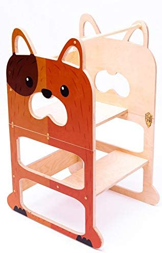Torre de Aprendizaje para Dos, Escritorio y Taburete Montessori - Perro Veloz: Amazon.es: Hogar