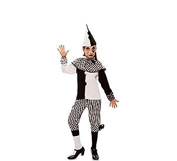 Eurocarnavales Kinder Kostum Harlekin Tamina Schwarz Weiss Clown