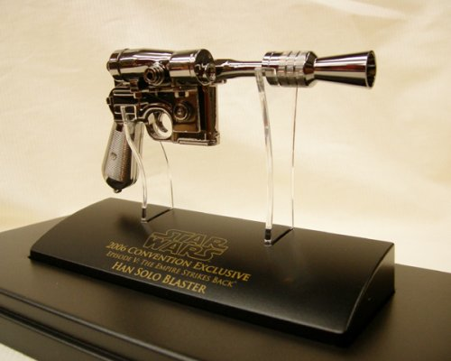Star Wars: Episode V: Empire Strikes Back Han Solo SDCC Exclusive 'Black Chrome' Blaster Scaled (Han Solo Pistol)