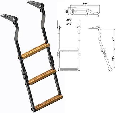 nauti Nox Acero Inoxidable de Baño Escalera – plegable – Para plataformas de fibra de vidrio de baño – con 2, 3 o 4 peldaños disponible Talla:3 Stufen: Amazon.es: Deportes y aire libre