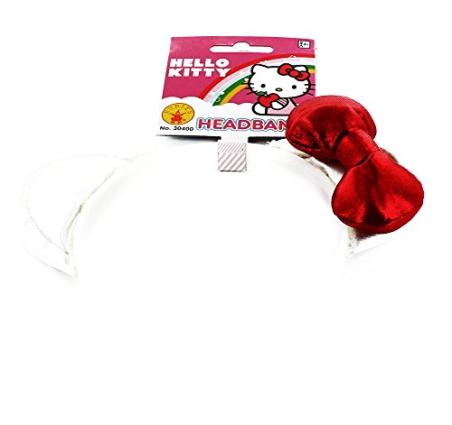 [Hello Kitty Plush Costume Headband] (Hello Kitty Ears)