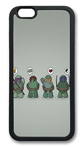 iPhone 6 Cases, Funny Tmnt Teenage Mutant Ninja Turtles Durable Soft Slim TPU Case Cover for iPhone 6 4.7 inch Screen (Does NOT fit iPhone 5 5S 5C 4 4s or iPhone 6 Plus 5.5 inch screen) - TPU Black