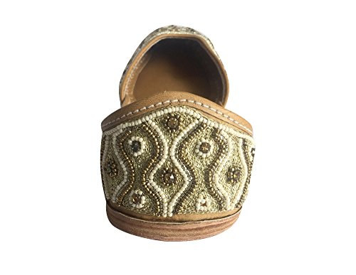 donne etnico Punjabi Bridal dicono Khussa Jutti Shoes Copper scarpe Step Ballerina le N s Mojari wStqxU0Sv