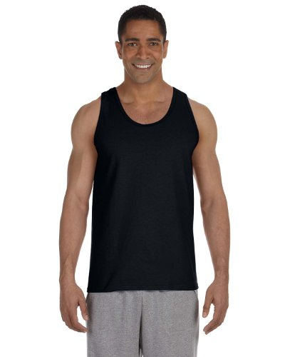 Gildan 2200- Classic Fit Adult Tank Top Ultra Cotton - First Quality - Black - Large