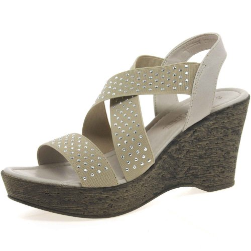 Marco Tozzi Da.-Sandalette Größe 39 Grau (TAUPE)