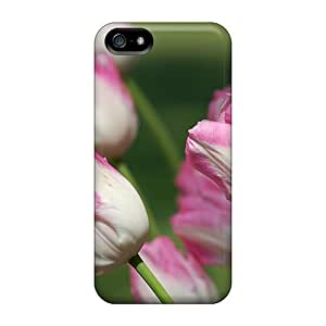 Hard Plastic For HTC One M8 Phone Case Cover Back Covers,hot Pink White Tulips Cases At Perfect DIY