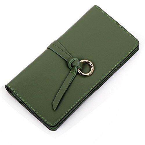 Portefeuilles Zipper Haoling de Embrayage Long En Portefeuille Sacs Titulaire Femme green la à Femmes Femme Carte Femme Purse Cuir Mesdames main 8wXZr8q