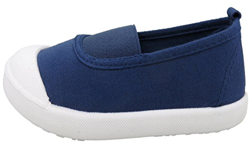 Yedi Candy Color Boys Girls Kids Canvas Casual Slip On Unisex Shoes, Blue 12 M US Little Kid