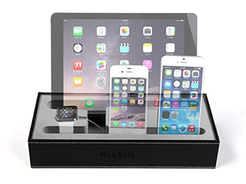 ipad iphone charging station konsait 4 in 1 multi device organizer for apple 6277