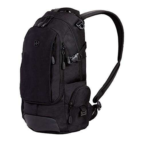 SWISSGEAR Compact Organizer Backpack | Narrow Profile Daypack| Men's and Women's - Black