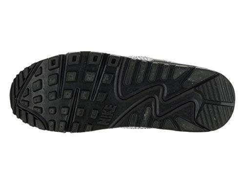 Nike Air Max 90 Safari (GS), Zapatillas de Running Para Niños Blanco / Negro / Naranja (Summit White / Black-Clay Orange)