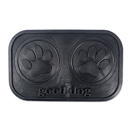 DII Bone Dry, Non-Slip, 100% Natural & Recycled Rubber Good Dog, Paw (Recycled Rubber Pet Placemat)