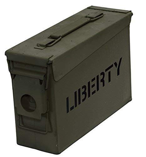 Liberty Safe Ammo Cannister Storage Box (.30 Caliber)…Water and Air Tight-Military Specs.