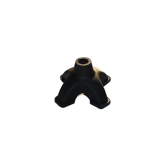 12 PACK BLACK 19mm RUBBER FERRULE Walking Stick//Cane//Crutch Anti-Slip Grip End