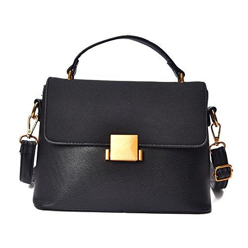 Lijado De Del Solo Pequeño Cuadrado GWQGZ Bolso Negro Moda Antique Colgada Ambiente Hombro Nuevo Retro Black Bag wS00PxqC