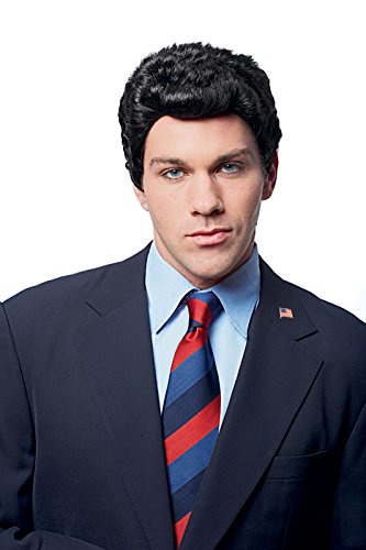 Price comparison product image Costume Culture Men's Campaign Wig, Black, One Size