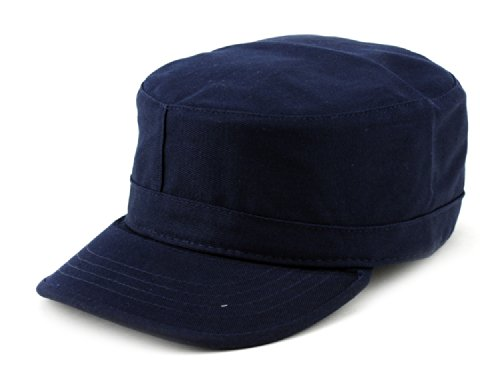 NYFASHION101 Fashionable Solid Color Unisex Fitted Army Military Cadet Cap, Navy, XL ()