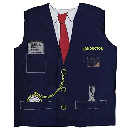 Trendy Apparel Shop Kid's Junior Costume Train Conductor Top Shirt - (Costumes Train Conductor)