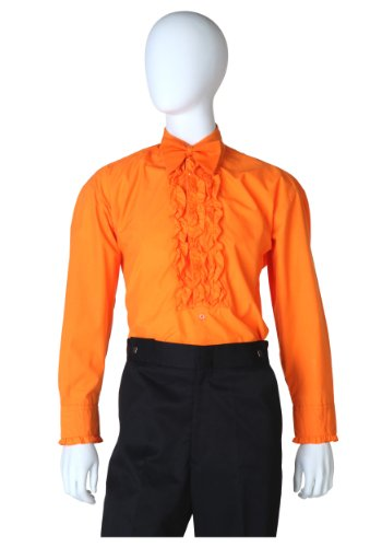 Fun Costumes mens Orange Ruffled Tuxedo  - Ruffled Tuxedo Shirt Shopping Results