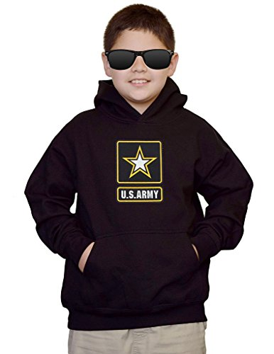 - Youth US Army Logo Black kids Sweatshirt Hoodie Large