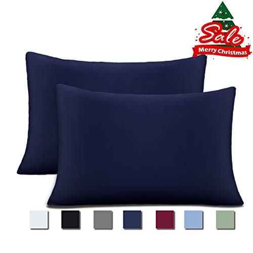 Cok Pillow Cases, Brushed Microfiber 1800 Luxury, Soft, Breathable and Hypoallergenic Pillowcases - 2 Pack (Navy Blue, King) Black Friday & Cyber Monday 2018