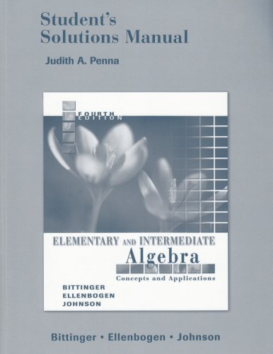 Elementary  Intermediate Alg  Concepts Applc  Student Solutions Manual
