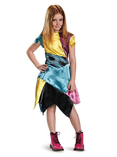 Santa Jack Skellington Costume (Sally Child Classic Nightmare Before Christmas Disney Costume, SMALL/4-6X)