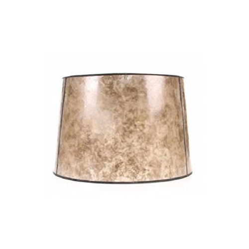 (allen + roth 10-in x 15-in Blonde Mica Stone Drum Lamp Shade)