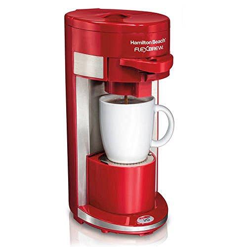 Hamilton Beach FlexBrew Single Serve Coffeemaker Gound & K-Cup Compatible (Red) (Hamilton Beach Flexbrew Parts compare prices)