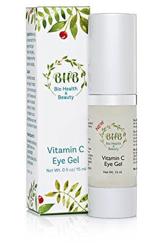 BHB Vitamin C Eye Gel with Salicylic Acid and B5 Promotes Skin Care and Collagen Production to Diminish Wrinkles Dark Circles and Age Spots Includes Green Tea and Cucumber Extract 15ml