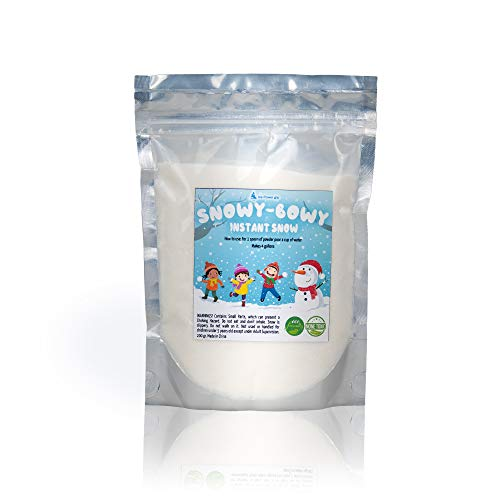 - Instant Snow, Insta Snow Powder, Instant Snow for Cloud Slime and Decoration,4 Gallons Snow Powder Just add Water, Fake Artificial Snow, Expanding Winter Snow, Slime Supplies,Insta-Snow Ice Slime