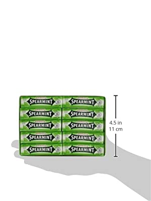 Wrigley's Gum, Spearmint, 5 Count (Pack of 40)