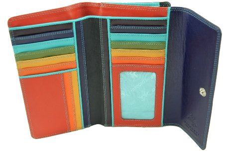 Visconti SP20 Multi Colored Large Bifold Soft Leather Wallet