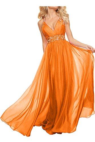 Promkleider Ballkleider Langes Rosa Kleider Partykleider A Rock La Chiffon Jugendweihe Abendkleider mia Braut Orange Linie tqYtwAR8
