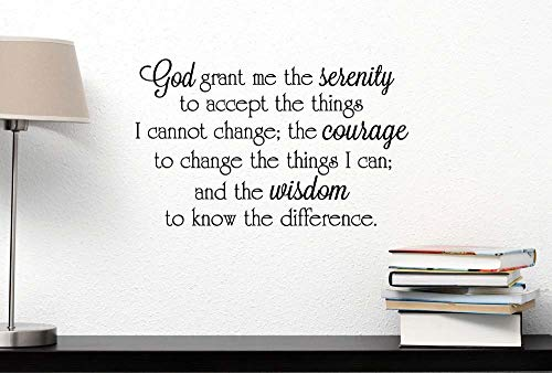 Serenity Standard Mirror - Dozili God Grant Me The Serenity to Accept The Things I Cannot Change The Courage. Wall Decal Religious Inspired Vinyl Wall Decal Quote Stencil Art 23