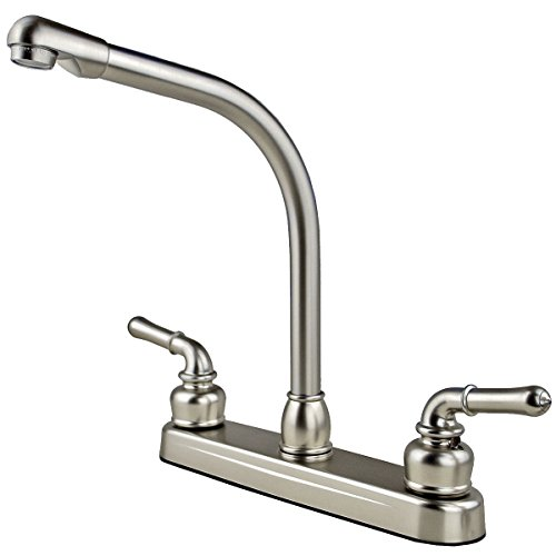 (RV / Mobile Home High Rise Kitchen Sink Faucet, Stainless)