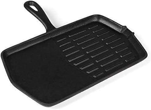 Grillpfanne Für Holzkohlegrill : Rustler gusseisen grillpfanne mit stiel und emaille beschichtung