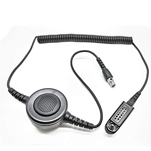 - Fumei Multi-Pin GP328 HT750 Radio to Aviation and Military Headset Adapter with Long Coiled Cable and Jumbo PTT Button