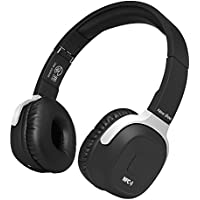 New Bee Built in Pedometer APP Sports Bluetooth Headphones Hifi Stereo Headset with Mic NFC for Iphone Computer PC (Black)