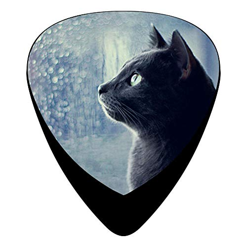 Black Cat Guitar Picks Personalized Fashion Celluloid Plectrums 12-Pack