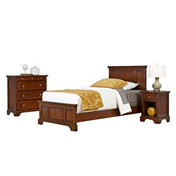 Home Styles Model 5529-4021 Chesapeake Cherry Finish Bed Night Stand and Chest - Twin