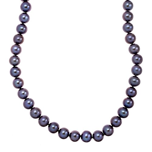 Honora 8-9 mm Black Freshwater Cultured Pearl Strand Necklace in 14K Gold (14k Honora Necklace)