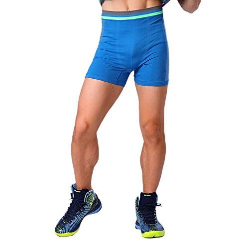 Prettywell Mens Sports Compression Quick Dry Tight Shorts MA-13 (L, Blue)